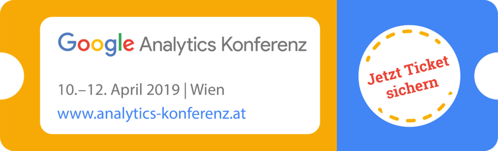 Google Analytics Konferenz Tickets